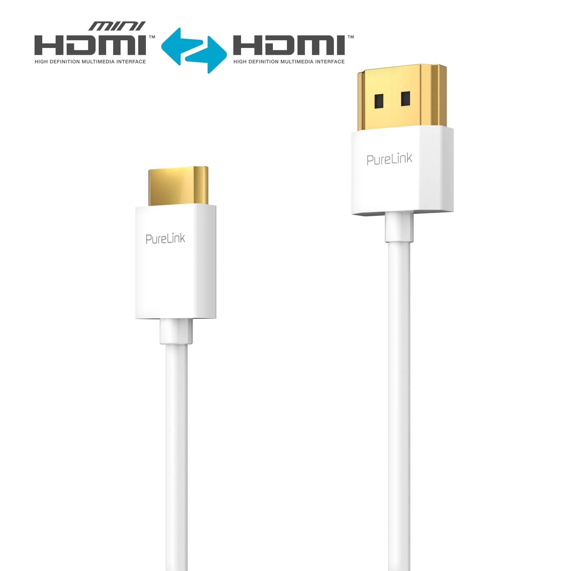 HDMI Mini HDMI Kabel ProSpeed Serie 1 50m Thin HDMI zu Mini HDMI Kabel HDMI Anschlusskabel eAV Deutschland AV Distribution