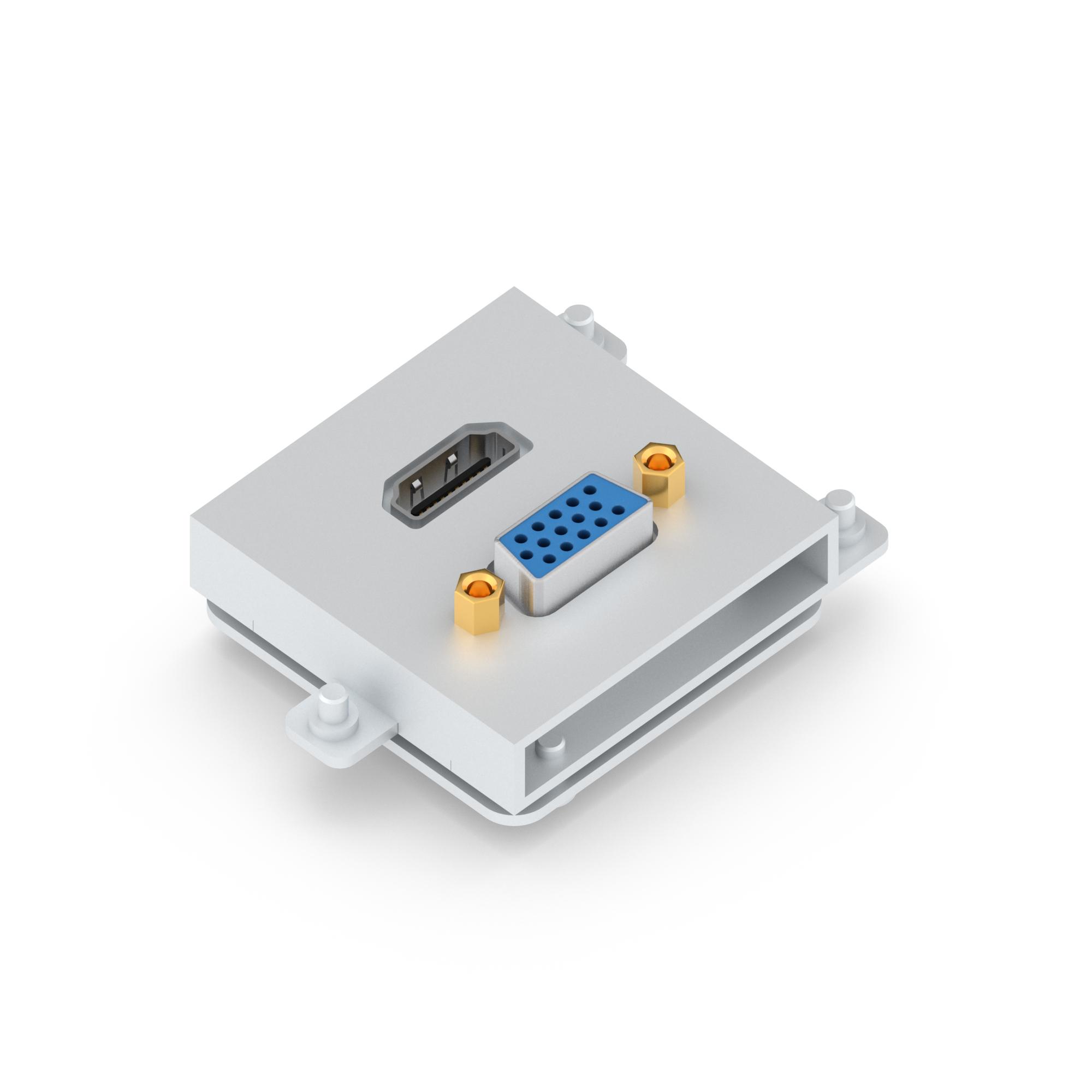 Connector module for FLAT, MINI & NEO range, HDMI + VGA - Color ...