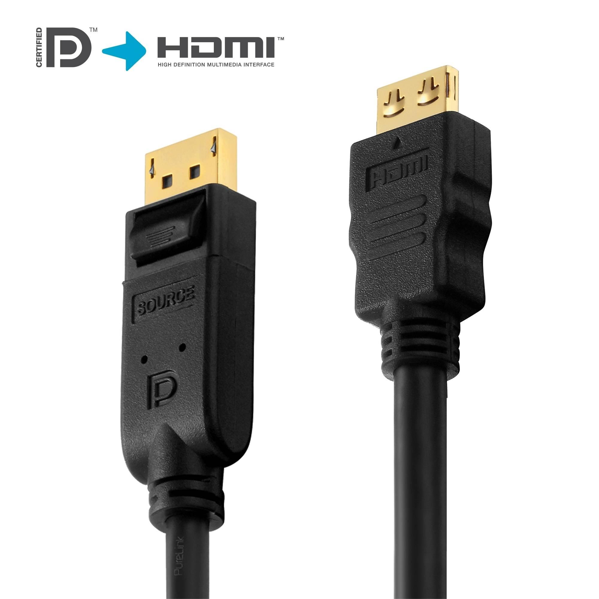 DisplayPort to HDMI Cable - PureInstall 2,00m | DisplayPort naar ...
