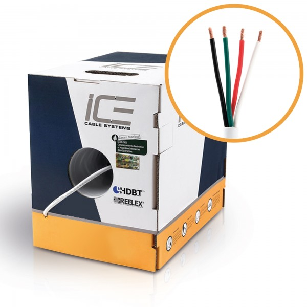 ICE Cable - Lautsprecherkabel, 4x2,08mm² (AWG14), OFC, weiß, 152,5m ...