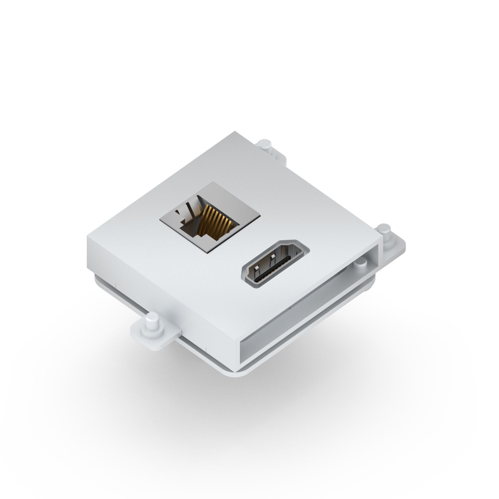Connector module for FLAT, MINI & NEO range, HDMI + Cat.6 (LAN ...